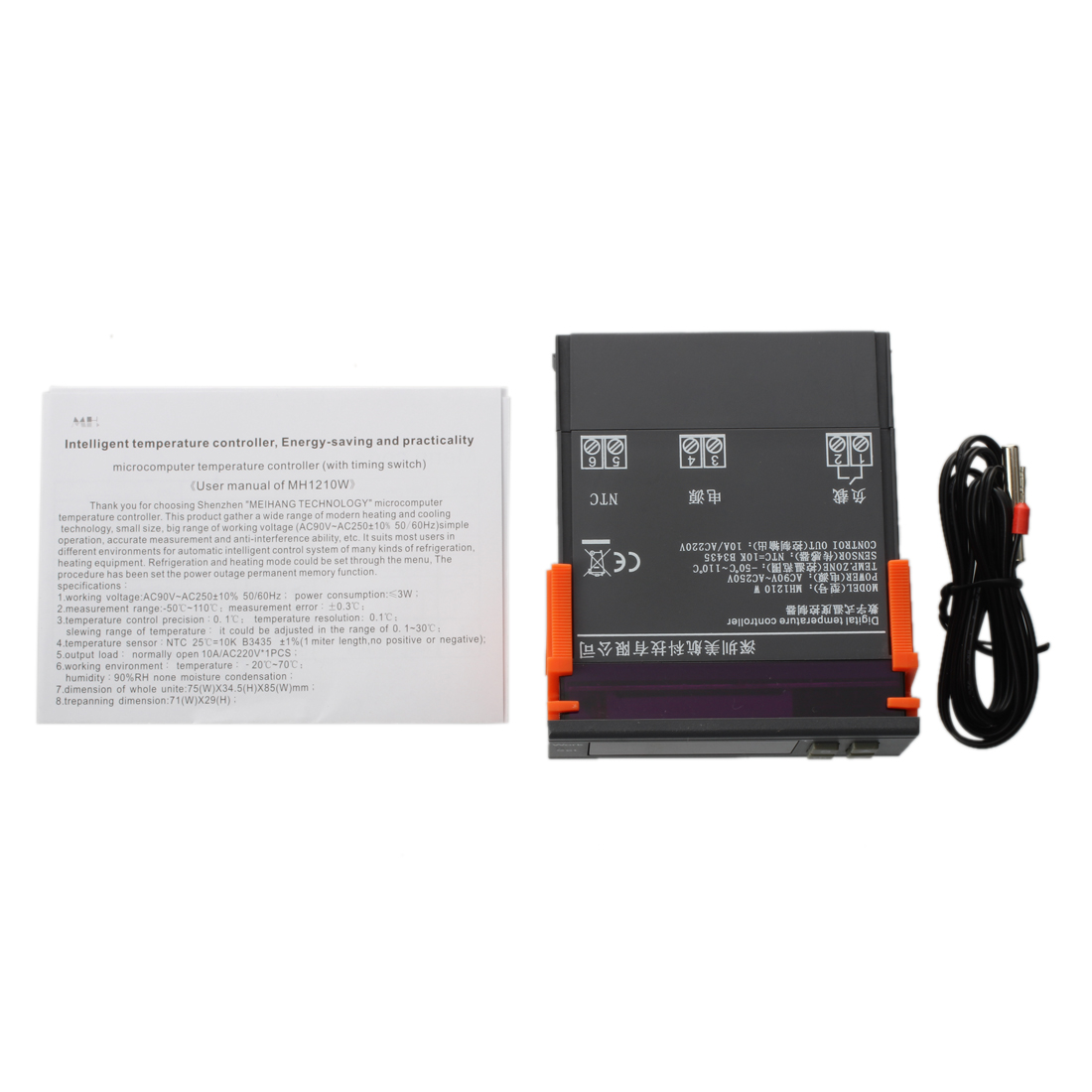 AC 90V-250V MH1210W Digital Temperature Controller screen