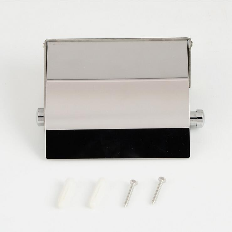 Bathroom wall mounted Stainless Steel tissue box holder paper roll holder, Hotel/Kitchen waterproof paper holders racks