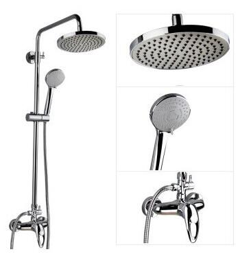 Bathroom rainfall shower faucet mixer tap, Brass wall mounted shower faucet set, Shower faucet shower head stainless steel hoses