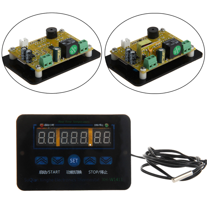 12/220V 10A Digital LED Temperature Thermostat Control Switch Sensor Probe New 2017