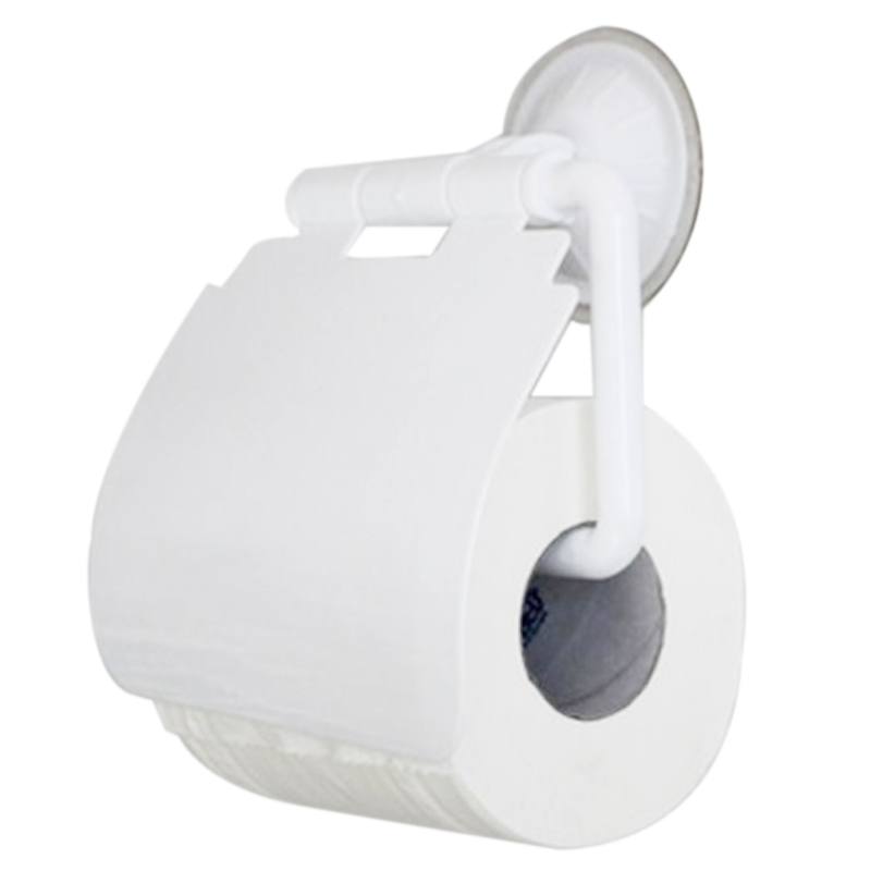Fashion Creative Tissue Box Bathroom Lavatory Sucker Wall Mounted Toilet Paper Holder Cover Roll Tissue Box Storage Accessory