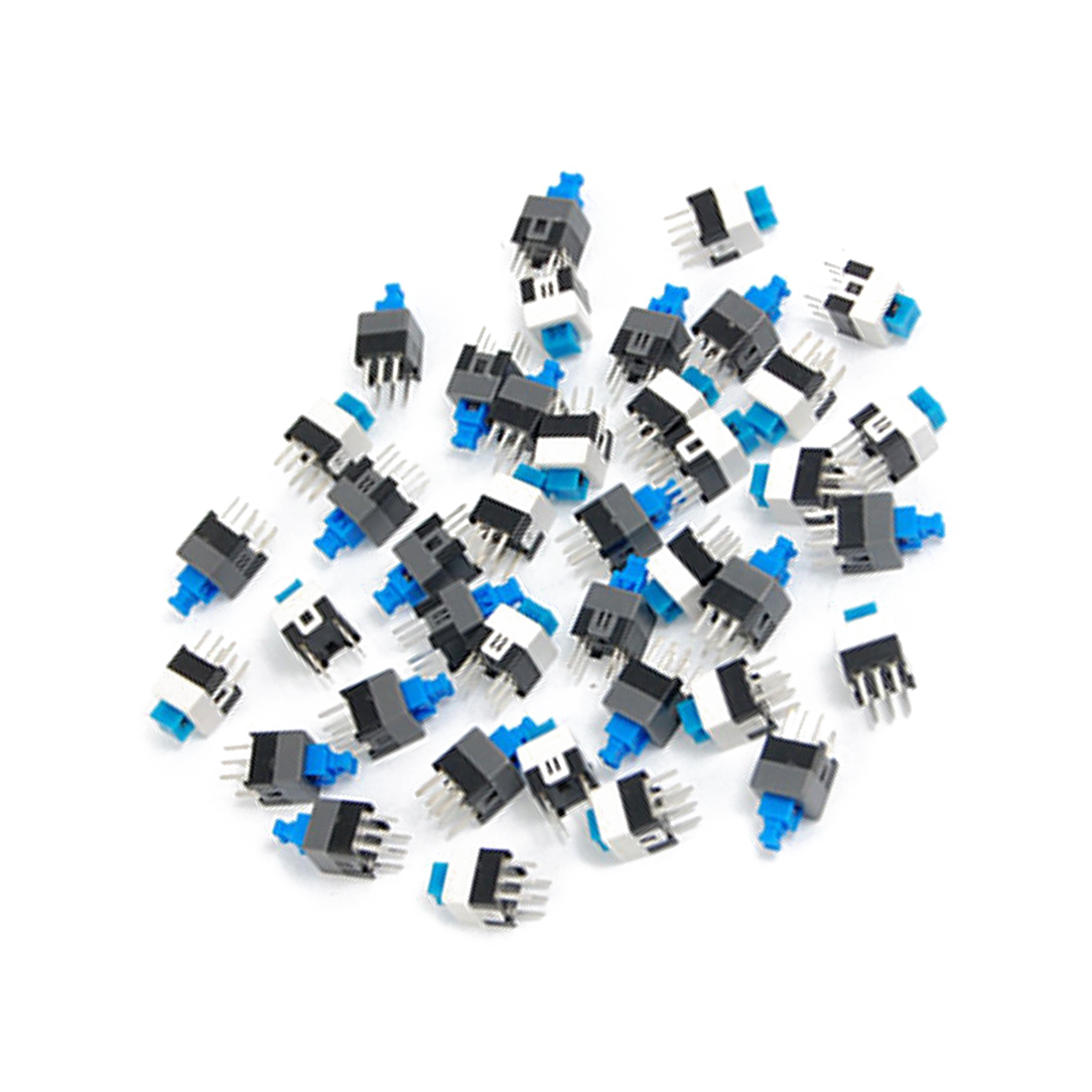 Promotion! 40 Pcs 7 x 7mm PCB Tact Tactile Push Button Switch Self Lock 6 Pin DIP