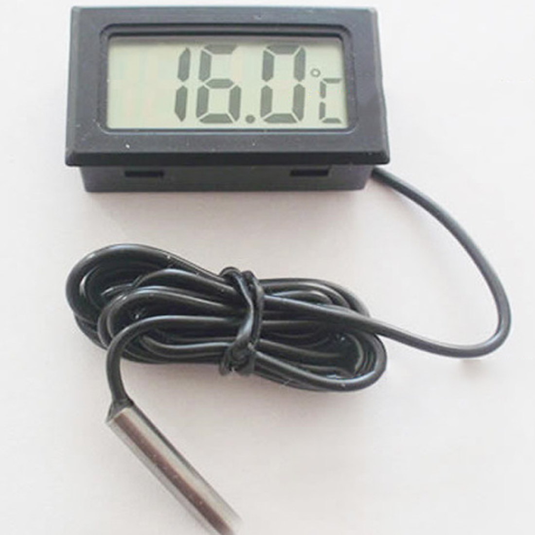 High Mini LCD Display Inlay Digital Thermometer Probe Refrigerator/Fish Tank Temperature Tester( -50C~110C ) Include Batteries