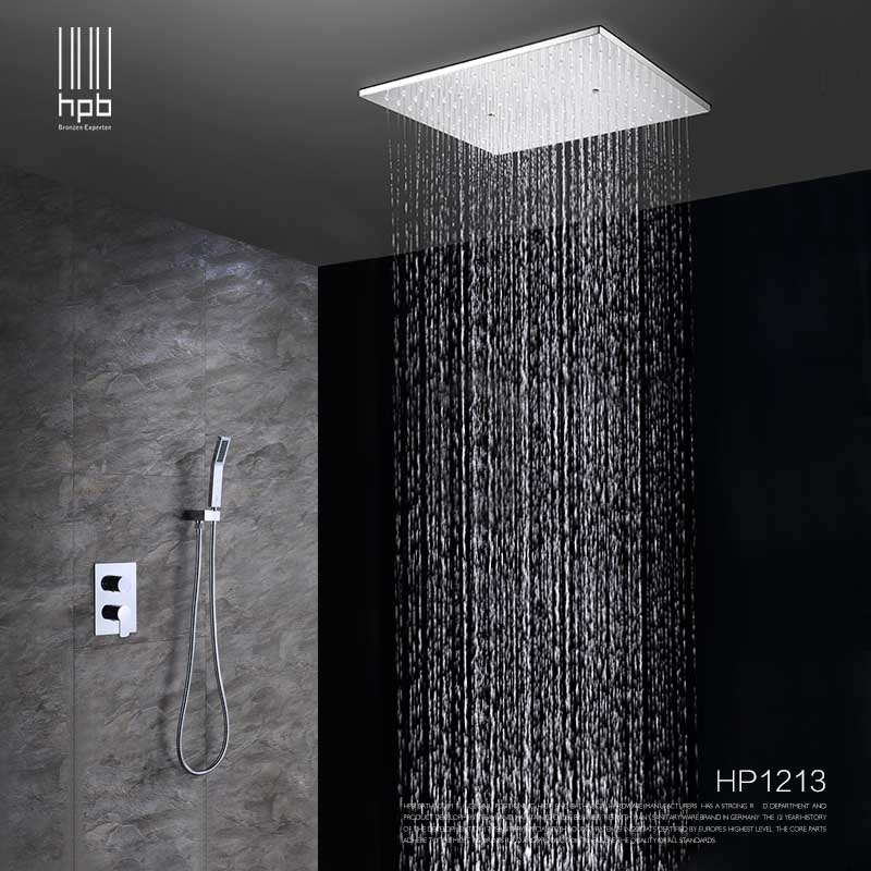 Hpb Ceiling Mounted Rainfall Shower Head System Bath