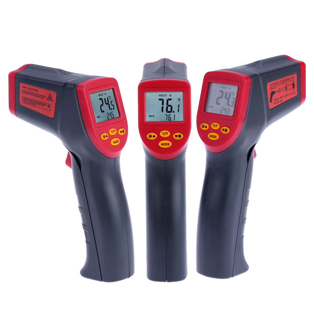 Digital Infrared IR Thermometer Temperature Tester Pyrometer Handheld Non-contact  LCD Display with Backlight
