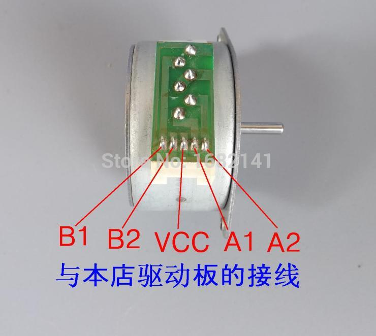 10pcs/lot,NEW Round 42 stepper Stepping Step motor printer 4 Phase 5 Wire 5V to 12V with 7.5 degree step angle