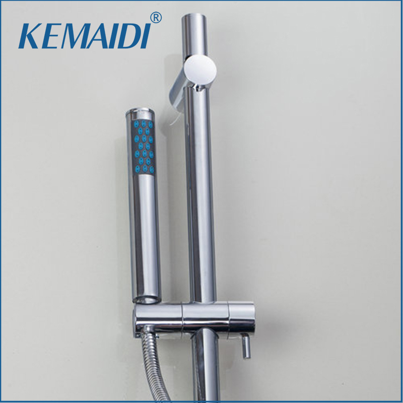 KEMAIDI Shower Set Torneira Shower Handheld Bathroom Rainfall Bathtub Chrome Wall Mounted Faucets Hot And Cold Mixers & Taps