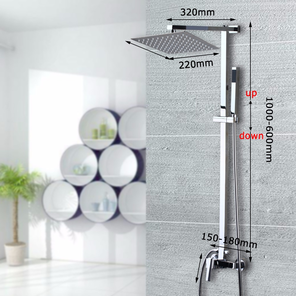 US Stock Bathtub Faucet With Head Held Shower Sprayer Bathroom Shower Set Single Handle Hot And Cold Water Tap Mixer Torneira