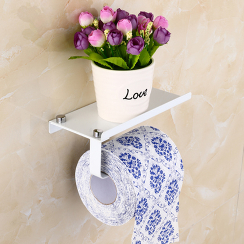 MTTUZK stainless steel toilet paper holder Roll paper holder paper rack Roll holder Toilet phone rack shelf Toilet accessories