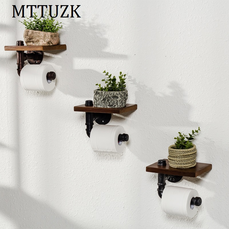 MTTUZK Creative toilet paper towel holder frame retro toilet roll holder paper holder Toilet accessories freeshipping