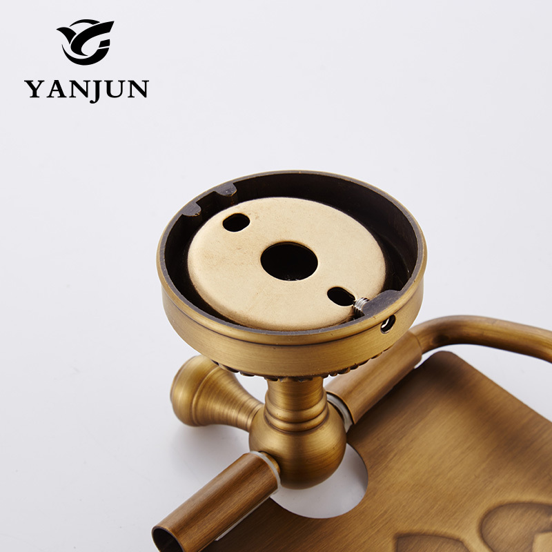Yanjun  Quality Copper Toilet  Paper Roll Holder With  Flap  Wall Mounted Paper Towel Holder Bathroom Accessories YJ-7957