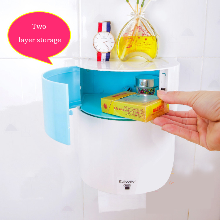 Colorful Plastic double Toilet Paper Holder Bolt inserting Pasted porta papel hygienic bathroom accessories toilet roll holder