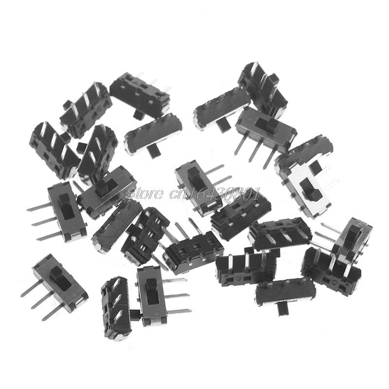 25Pcs/Set MSK-12D19 G2 SPDT 1P2T SMD 3 Pin PCB Panel Horizontal Slide Switch #S018Y# High Quality