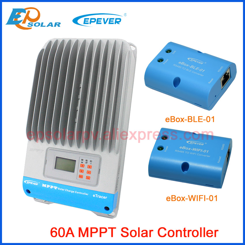 EPSOLAR ET6415BND 60A MPPT solar charger controller with eBox WIFI and Bluetooth function 12v 24v 36v 48v auto work