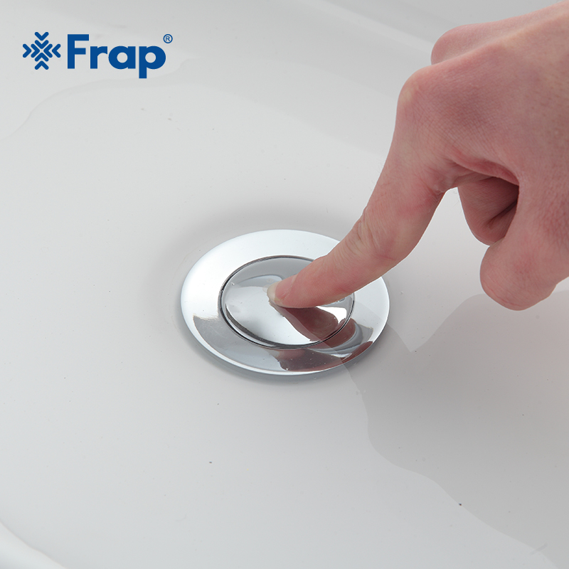 Frap Modern style Bathroom basin waste Pop Up Waste Vanity Vessel Sink Drain With overflow hole F66 F66-2