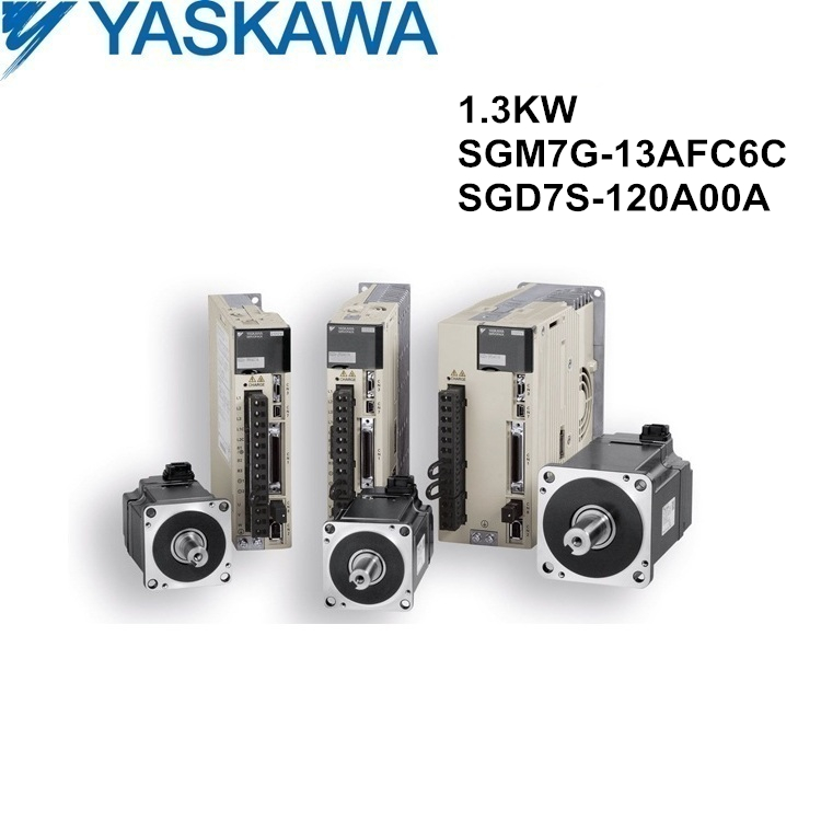SGM7G-13AFC6C+SGD7S-120A00A original YASKAWA 1.3KW servo motor and driver with cables
