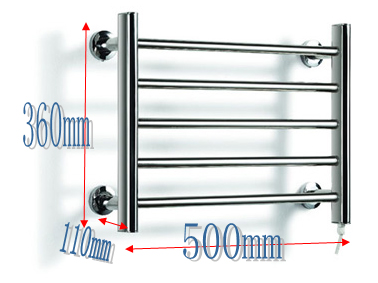 1pc Heated Towel Rail Holder Bathroom AccessoriesTowel Rack Stainless Steel ElectricTowel Warmer Towel Dryer & Heater Banheiro