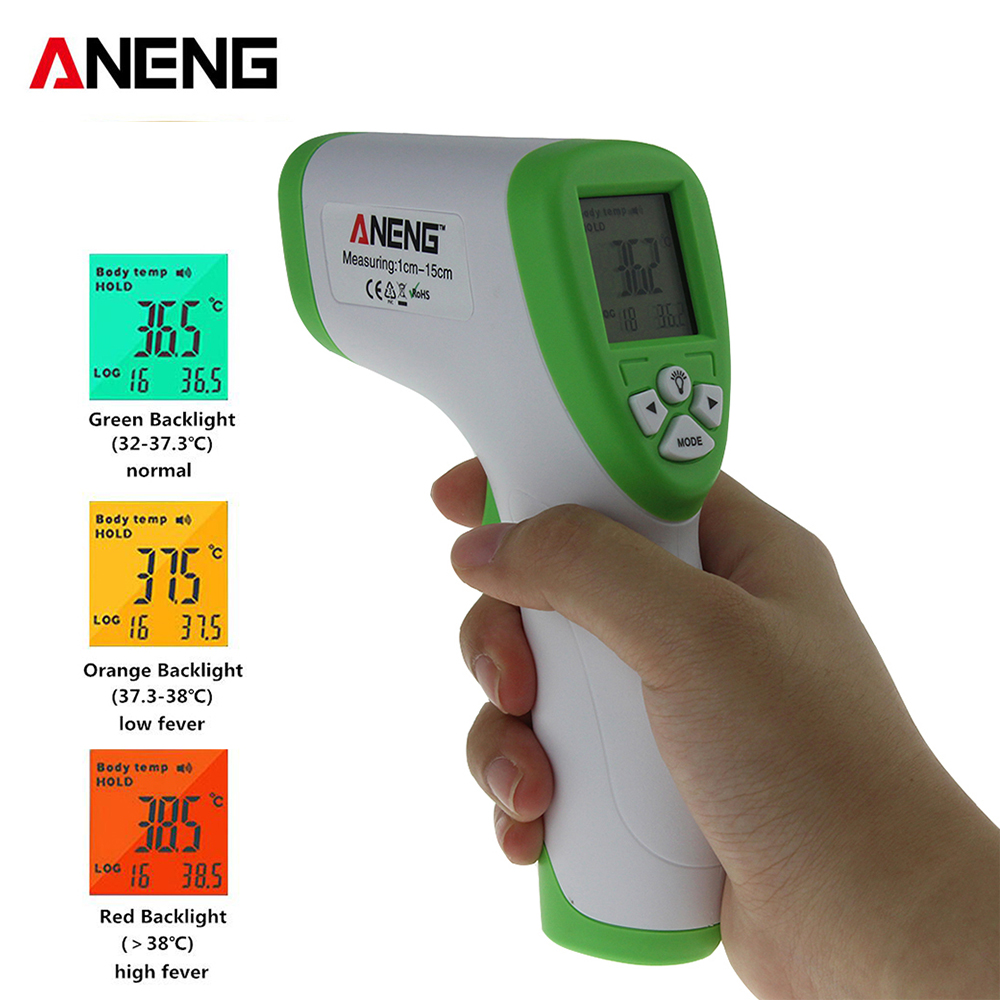 Adult Baby Thermometer non contact infrared forehead infrared digital LCD temperature measurement gun 32 ~ 43c / 90-109.4f