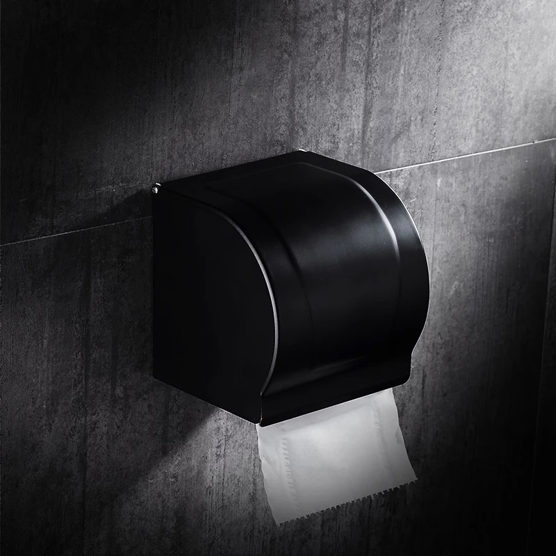Black orb paper box bathroom paper rack holder black brass paper shelf holder tissue box bathroom hardware accessories SY8816