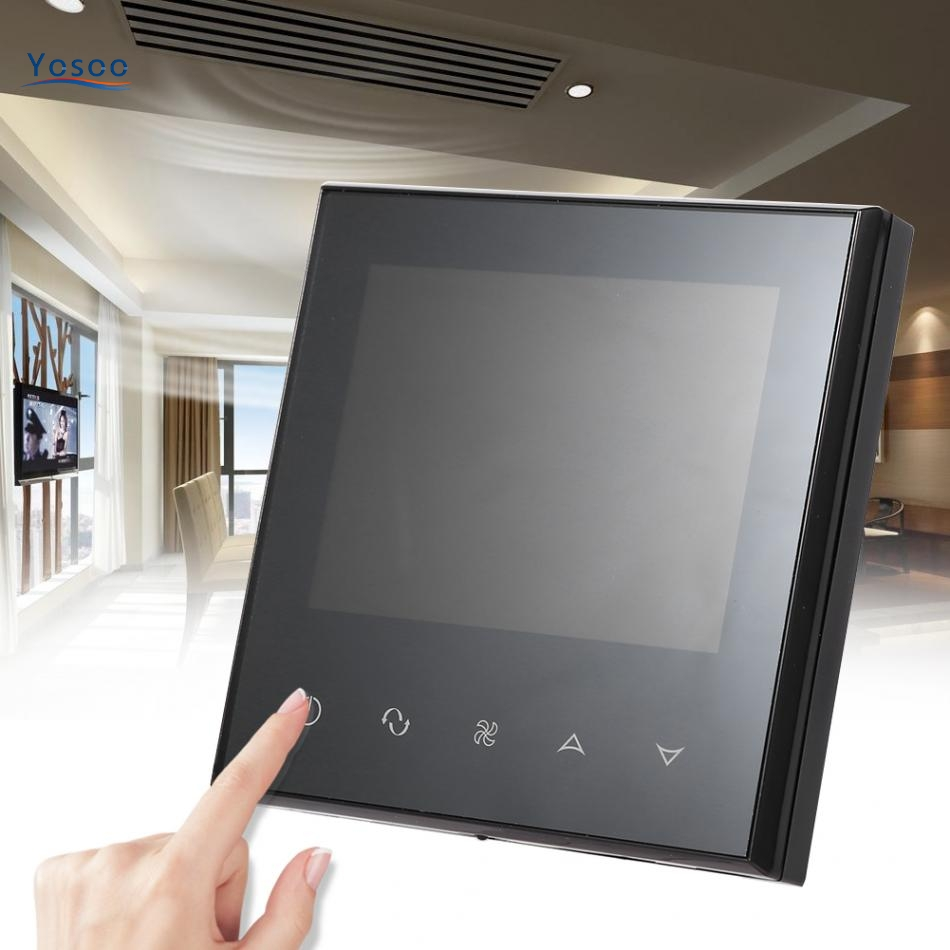 Digital Touch Screen LCD Air Condition Thermostat Intelligent Temperature Controller Black Home Use Thermoregulator Regulator