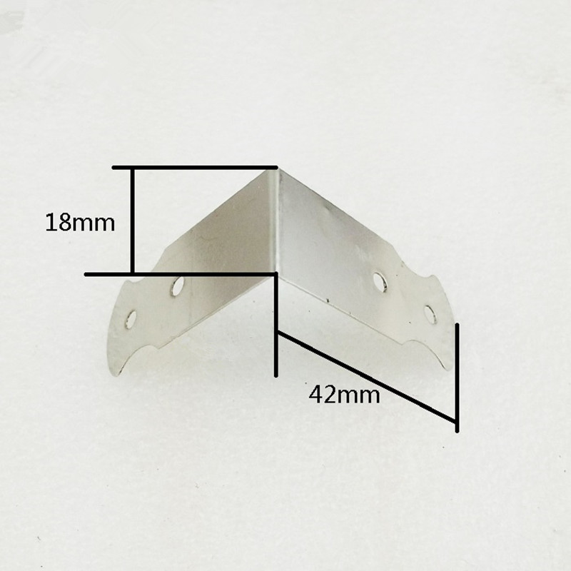 Hardware Ancient 4Holes Corner Brackets,Decor Coners,Wooden Box,Gift Box Protectors,Side Protector,Silver Color,42*18mm,4Pcs