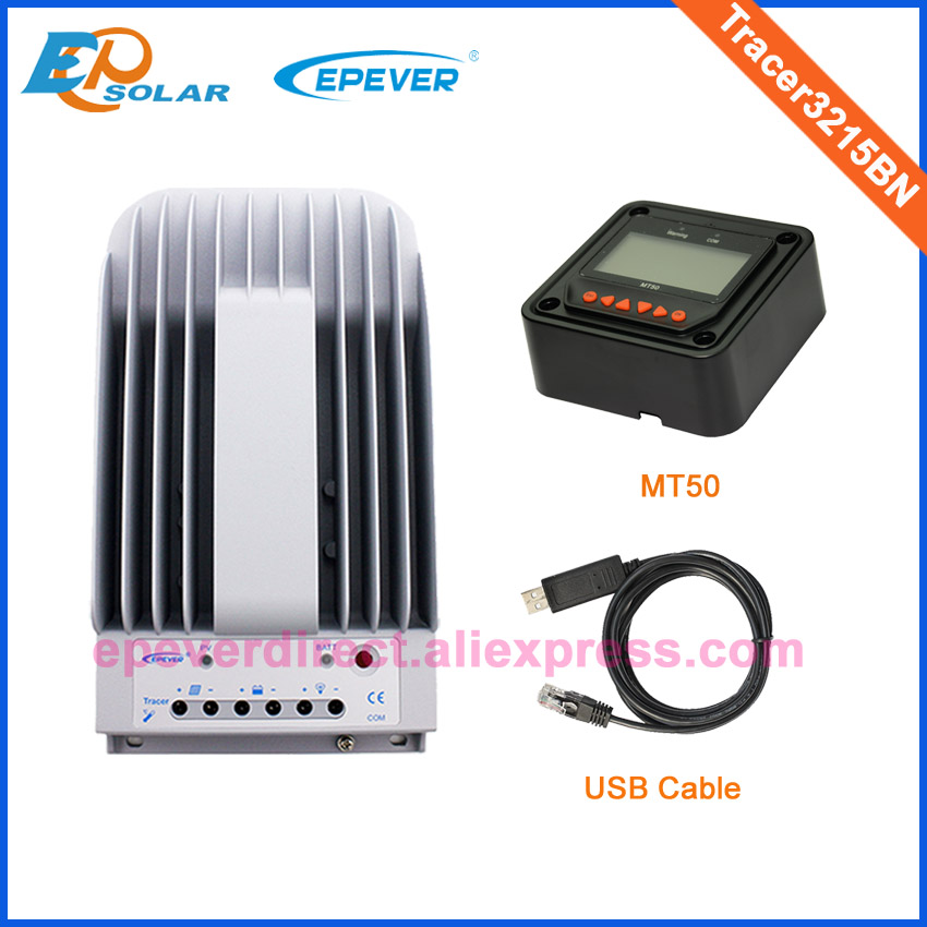 30A Solar battery charging regulator with MT50 remote meter and USB MPPT Tracer3215BN