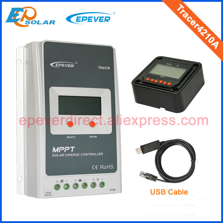 Solar regulator 40A MPPT Tracer4210A with MT50 and temperature sensor
