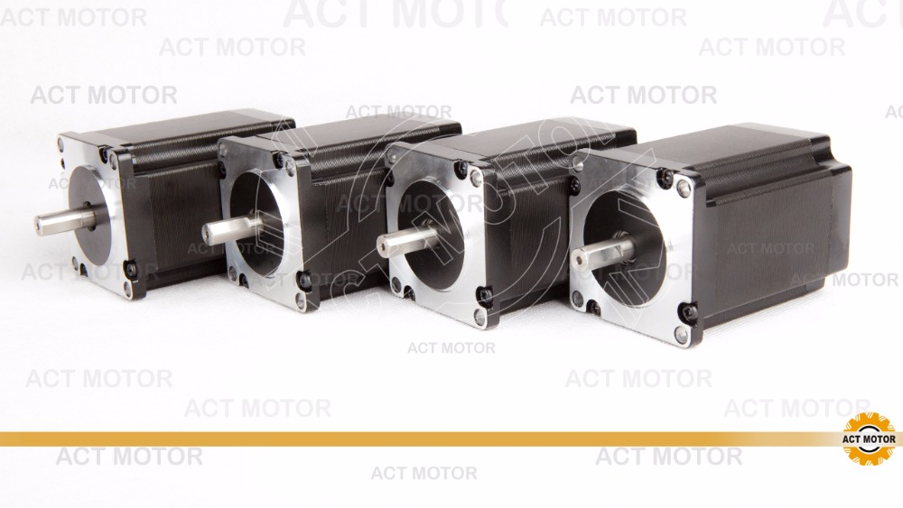 Shipping from China!ACT Motor 4PCS Nema23 Stepper Motor 23HS8430D8P1-5 Single Shaft 4-Lead 270oz-in 76mm 3A CE ISO ROHS