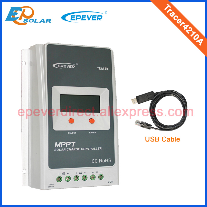 High Efficiency MPPT 40A Tracer4210A with MT50 remote meter BLE and USB cable 40A