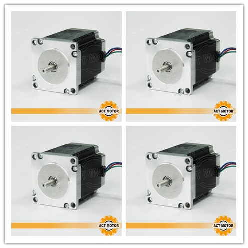 Hot Sale!4PCS Nema23 Stepper Motor 23HS8430 4-Lead 270oz-in 76mm 3.0A Bipolar CNC Router Foam Grind Laser Engraving DE US CAFree