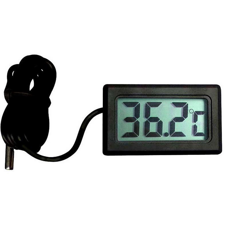 1 PC New Hot Sale High Quality Digital LCD Car Fridge Incubator Fish Tank Meter Gauge Thermometer voiture car-detector P0.1