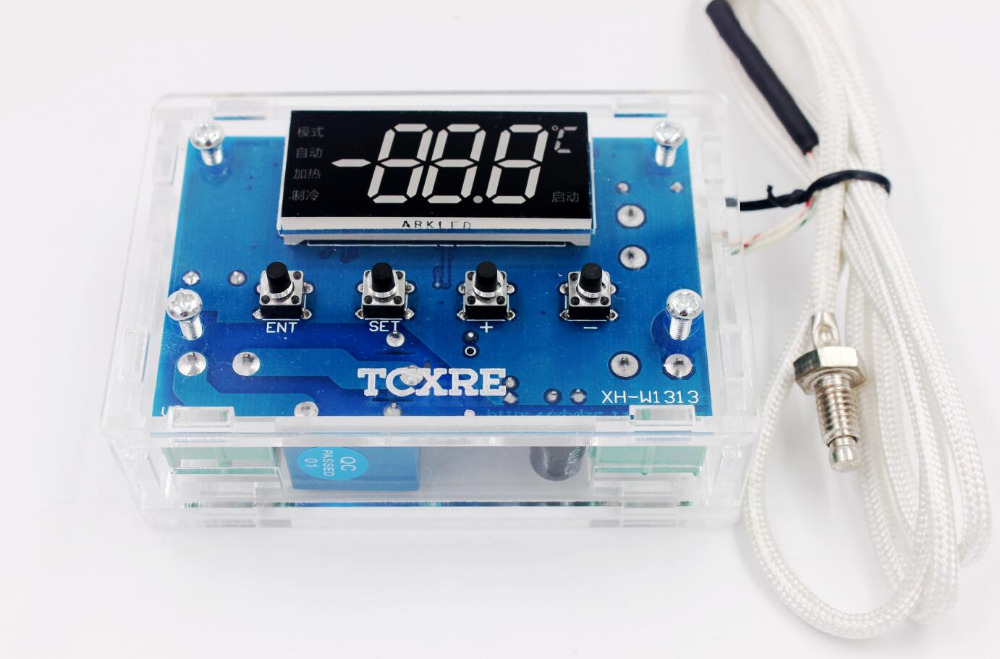 12V 24V Digital high Temperature Temperature Controller Board Thermostat Control Switch K Thermocouple Probe