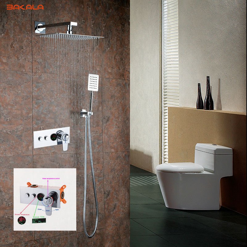 Rainfall Shower Tap Thermostatic Mixer Shower Luxury Led Panel Shower 304 Stainless Steel Overhead Spa Back To Search Resultshome Improvement