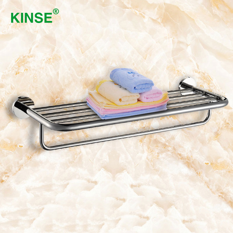 KINSE Durable Stainless Material Towel Racks Very Convenient Towel Shelf for Bathroom Installation