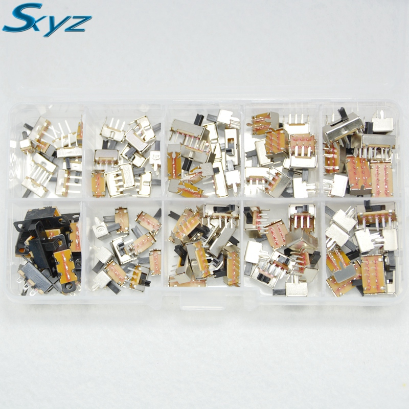 on-off mini Slide Switch PCB Mount Diy small electronic switch micro switch Mini VerticalToggle switch