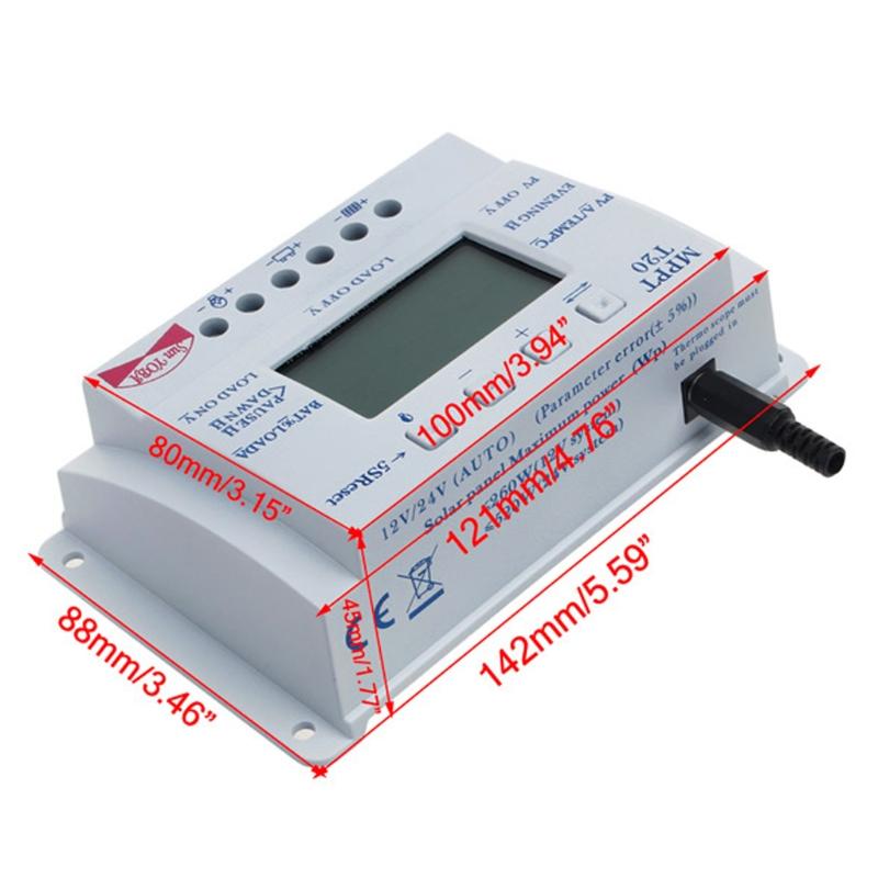LCD 10-40A 12V-24V MPPT Solar Panel Regulator Charge Controller 3 Timer G#