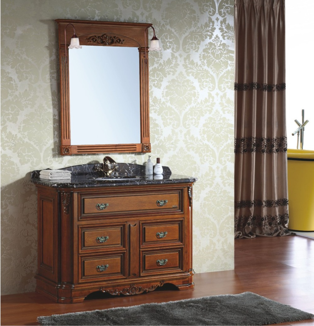 Antique Style Wooden Bathroom Cabinet with Top 0281-B-8030