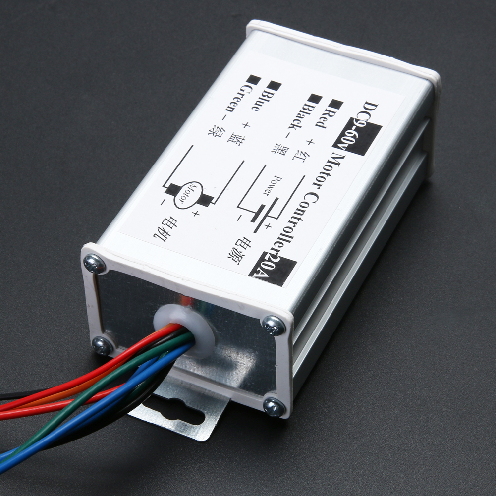 12V/24V/36V/48V/60V Reversible DC Speed Controller Motor Driver PWM Controller Electrical Equipment Accessories Tool