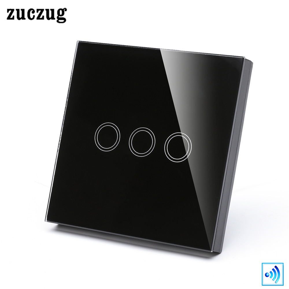 Zuczug 3 Gang Wireless Switch Shape Remote Controller Eu Uk Light Panel Please Select A Color