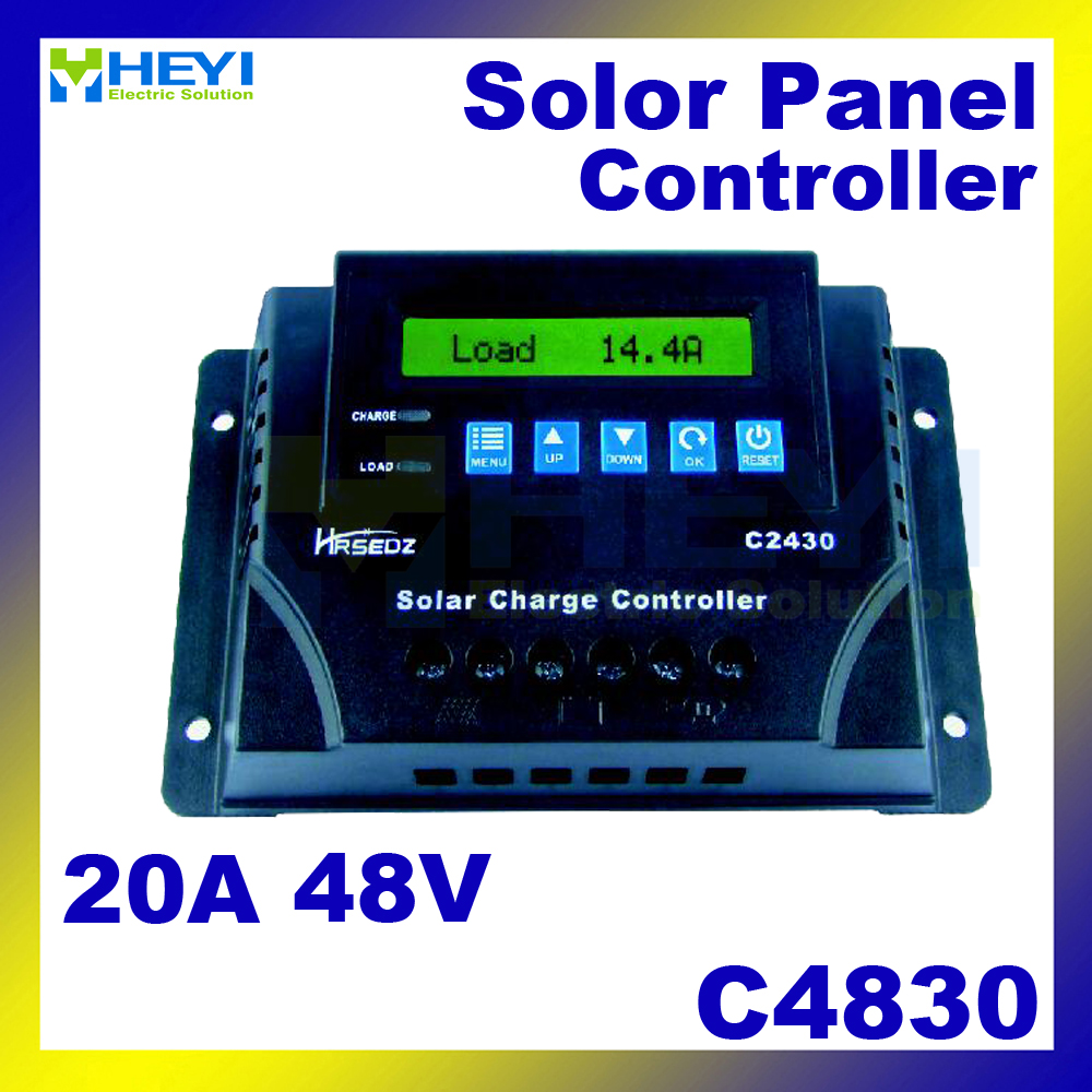 C4830-20 LCD Solar Charge and Discharge Controller 20A 48V solar controller pwm over discharge protection