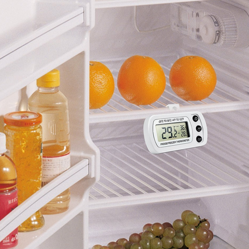 Fashion Freezer Thermometer with Hook Waterproof LCD Digital Display Refrigerator Thermometers Function For Home Fridge