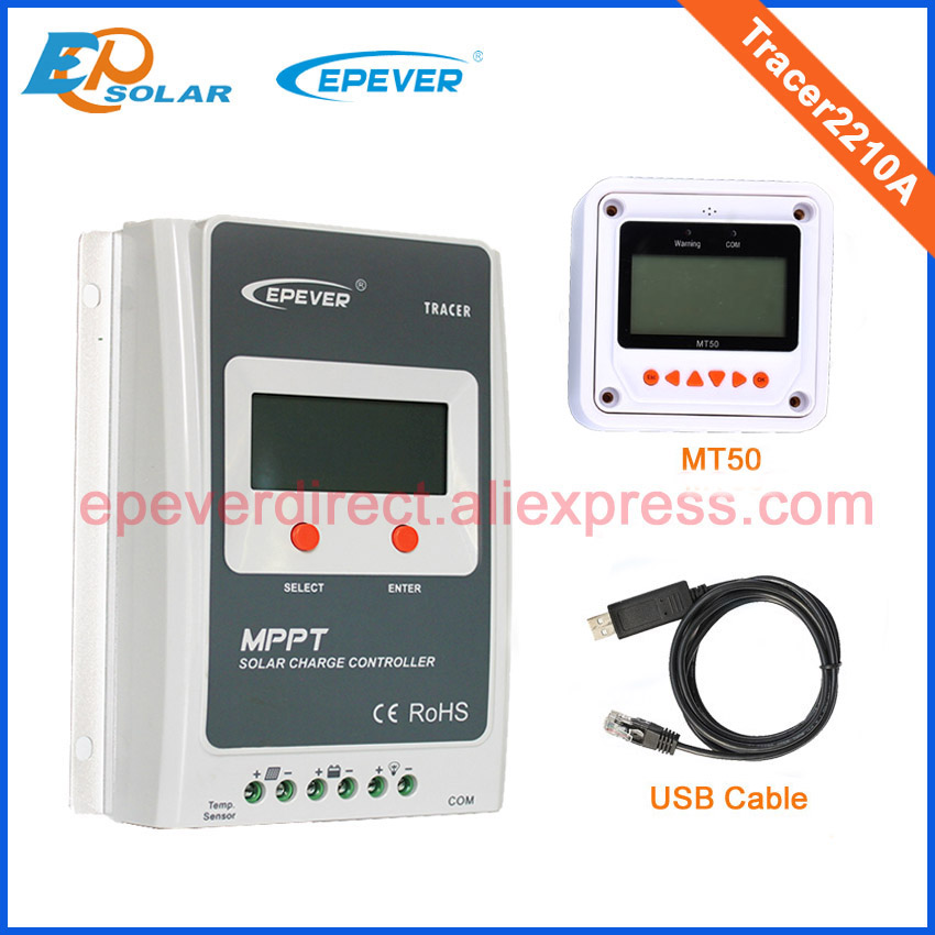 High Efficiency MPPT 20A 20amp Tracer2210A with MT50 and USB