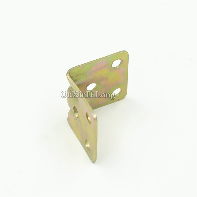 50PCS 30mm x 29mm Metal Right Angle Brackets Cupboard Bed Cabinet Table Corner Brackets Furniture Shelf Support