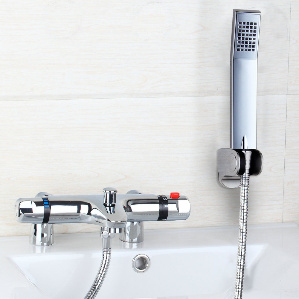 Hello Bath Mixer banho de torneira Thermostatic Deck Mount Bathtub Faucet With Hand Shower Faucets Mixers Shower
