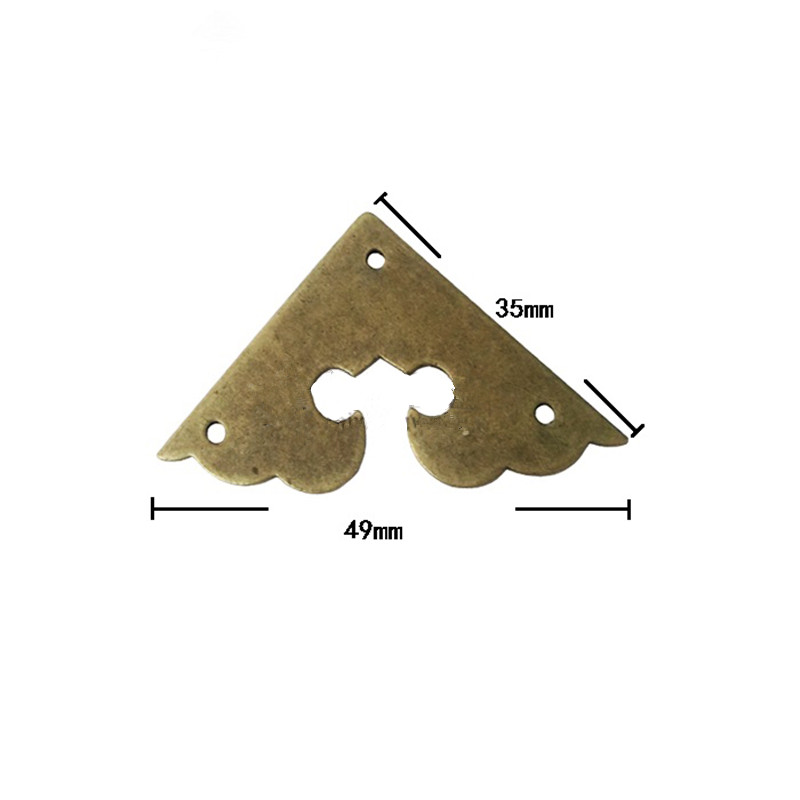 Bulk Triangle Brass Coner Cabochon,Ancient Vintage Corner,Flatback Metal Embellishments Scrapbooking,Wooden Box Decor,35mm,1PC