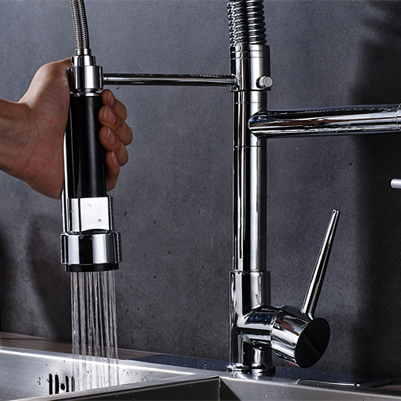 Chrome Finish Led Faucet Taps Repalcement Taps Mixer Sprayer for Kitchen Sink Faucet Replace Accessories