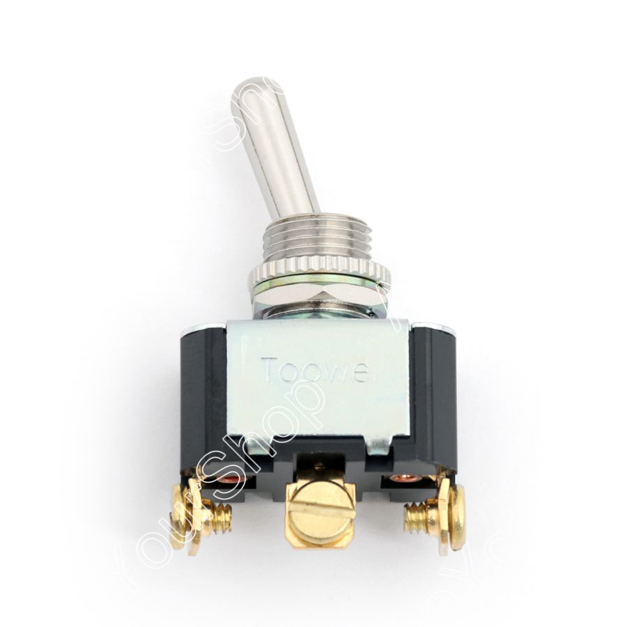 Areyourshop Toggle Switch  12mm 3 Pin 3 Position ON-OFF-ON 10A 250VAC Industrial Grade 15A 125VAC 1P