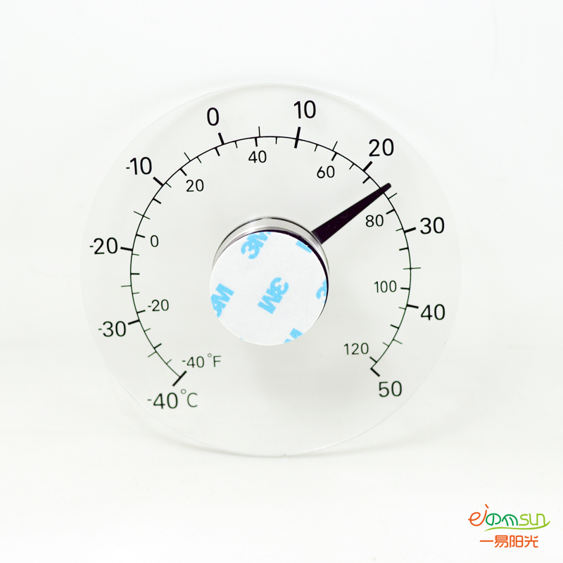 Outdoors Household Centigrade Analog Thermometer  transparent Temperature  Monitoring Meter Glass sticking paste Glass