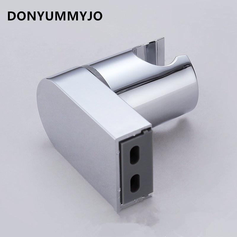 DONYUMMYJO ABS Handheld Shower Holder Bracket Chrome Finish Wall Mounted Adjustable Shower Head Holder Shower Seat