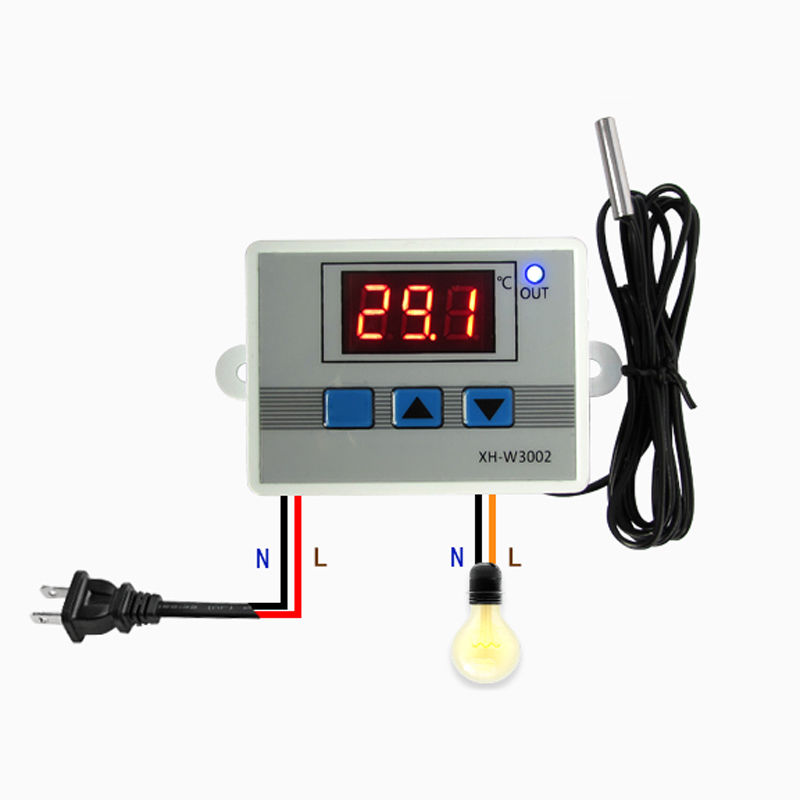 220V Digital LED Temperature Controller Thermostat Control Switch Probe DIY Temperature Controller Mayitr